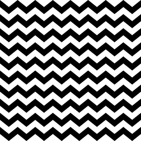 Abstract geometric seamless pattern. Simple black and white background.Vector illustration. Classic design. Chevron pattern. Zig zag pattern. Vectores