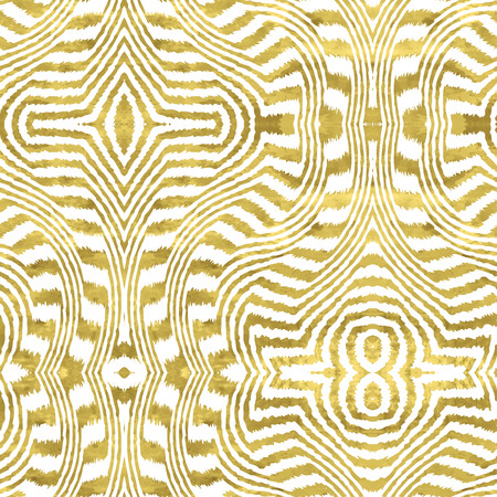 White and gold  pattern. Abstract geometric modern background. Vector illustration.Shiny backdrop. Texture of gold foil. Art deco style. Иллюстрация