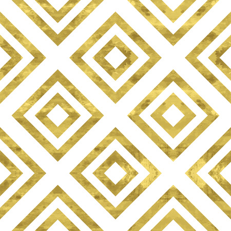 White and gold  pattern. Abstract geometric modern background. Vector illustration.Shiny backdrop. Texture of gold foil. Art deco style. 免版税图像 - 38625481