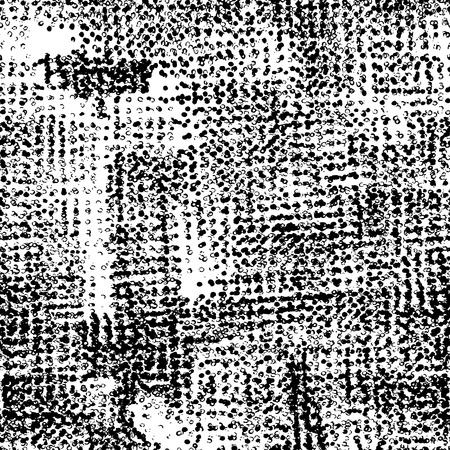Fantasy abstract seamless pattern made with ink. Freehand halftone grunge texture. Vector illustration.Monochrome modern background.Dirty wallpaper with dots. Spotted backdrop. Vector