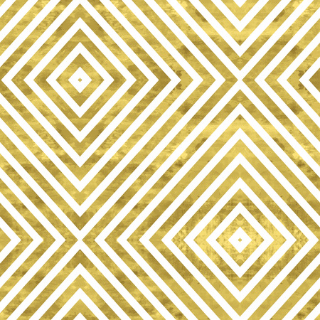 gold seamless: White and gold  pattern. Abstract geometric modern background. Vector illustration.Shiny backdrop. Texture of gold foil. Art deco style. Illustration