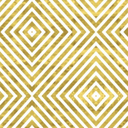 Wit en goud patroon. Abstracte geometrische moderne achtergrond. Vector illustration.Shiny achtergrond. Textuur van gouden folie. Art deco stijl. Stock Illustratie