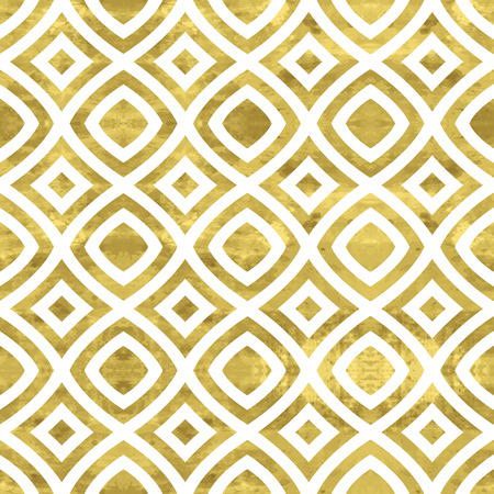 foil: White and gold  pattern