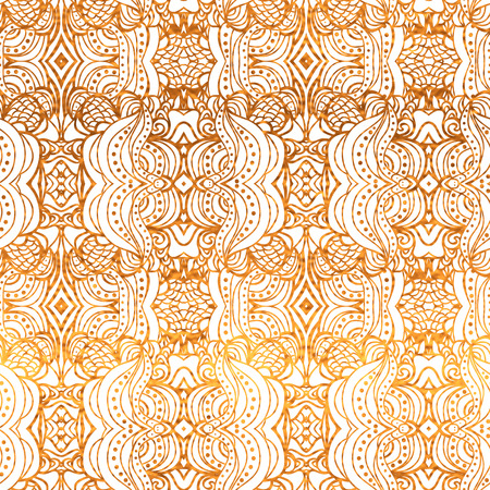 White and gold seamless  wallpaper.  Illustration