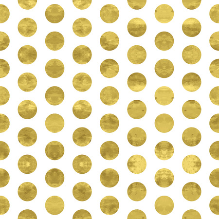 round dot: White and gold  pattern.