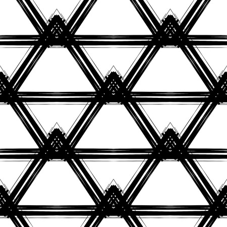 Abstract geometric seamless pattern made with ink. Modern design. Illustration