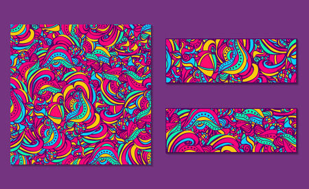 Set of bright abstract  patterns and banners. Vector