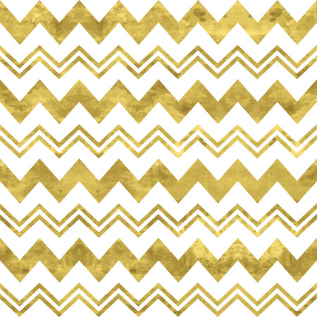 White and gold  pattern. Abstract geometric modern background. Vector illustration.Shiny backdrop. Texture of gold foil. Classic chevron wallpaper.