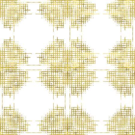 White and gold  pattern. Abstract geometric modern ethnic background. Vector illustration.Shiny backdrop. Texture of gold foil.