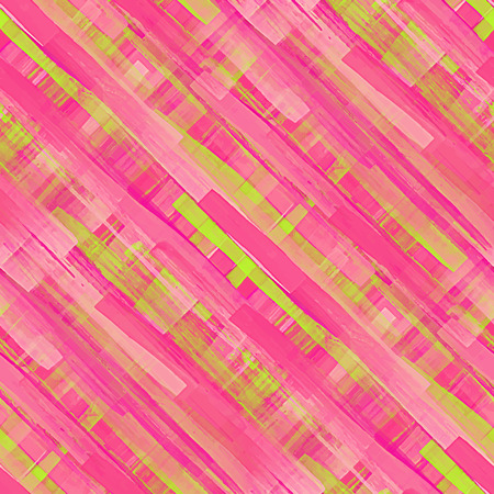 Acrylic seamless pattern. Handmade texture. Bright acid pink and green colors. Watercolor vector illustration. Illustration