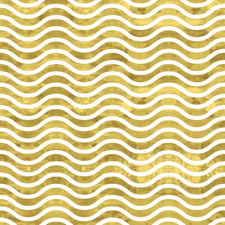 White and gold  pattern. Abstract geometric modern background. Vector illustration.Shiny backdrop. Texture of gold foil. Classic wavy wallpaper. 免版税图像 - 40692811