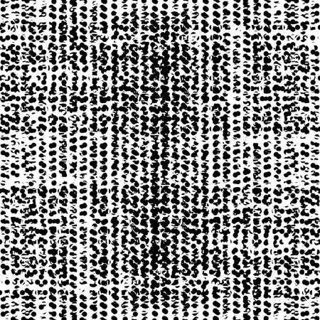 fabric texture: Fantasy abstract seamless pattern made with ink. Freehand halftone grunge texture. Vector illustration.Monochrome modern background.Dirty wallpaper with dots. Spotted backdrop. Black and white.
