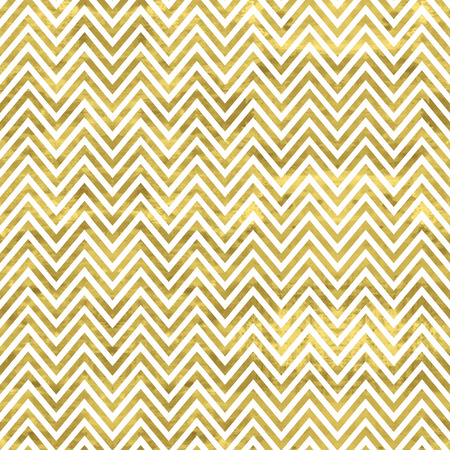 chevron pattern: White and gold  pattern. Abstract geometric modern background. Vector illustration.Shiny backdrop. Texture of gold foil. Classic chevron wallpaper.