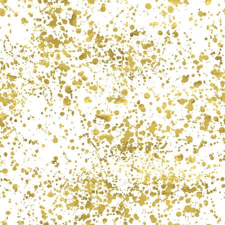 goldmedaille: Weiß und Gold Freihandmuster. Abstrakte Spray Hintergrund. Vector illustration.Shiny Kulisse. Textur der Goldfolie. Illustration