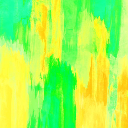 acid colors: Watercolor background. Handmade texture. Bright acid green, blue and yellow colors. Vector illustration. Illustration