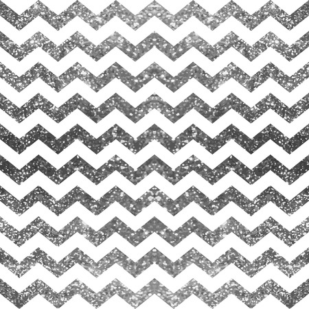 Silver and white glitter pattern. Sparkle abstract geometric modern background. Vector illustration.Shiny backdrop. Texture of  brilliant  silver foil. Classic chevron wallpaper.