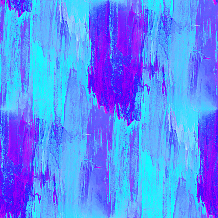acid colors: Watercolor seamless pattern. Handmade texture. Bright acid blue and purple colors. Vector illustration. Grungy abstract  acrylic wallpaper.