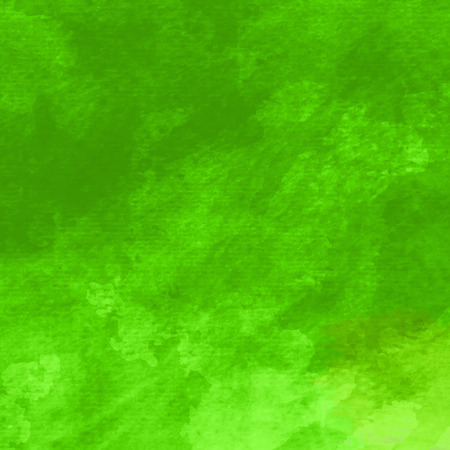 green: Watercolor background. Handmade texture. Bright acid green color. Vector illustration.