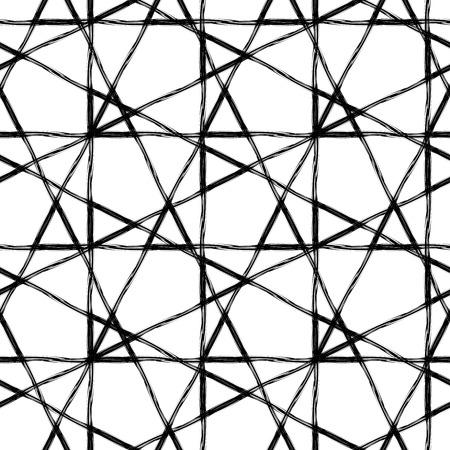 forme: Abstract seamless pattern géométrique faite avec de l'encre. design.Black moderne et blanc Hipster fond avec des triangles grungy. Vector illustration.