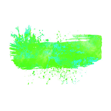acid colors: Abstract background or banner. Colorful watercolor isolated design elements. Vector illustration. Easy editable template.  Bright acid green and  blue colors.