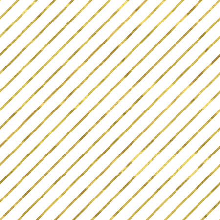diagonal: White and gold  pattern. Abstract geometric modern background. Vector illustration.Shiny backdrop. Texture of gold foil. Classic wallpaper with stripes. Illustration