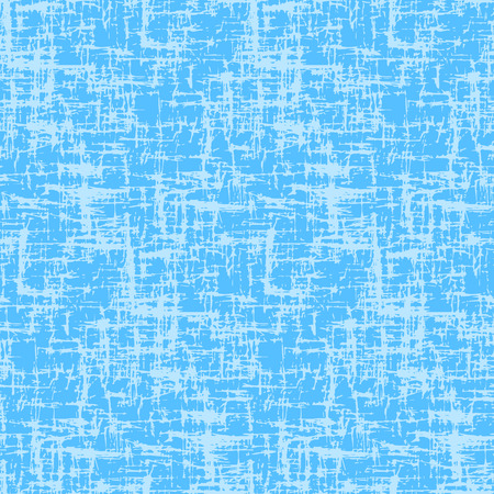 Blue background with grungy grid. Monochrome textured abstract seamless pattern. Modern design. Vector illustration.