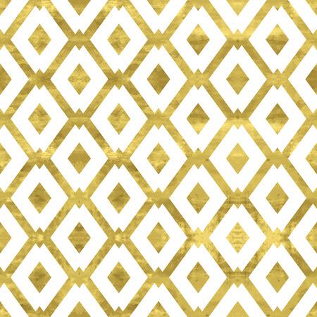 Weiß und Gold-Muster. Abstrakte geometrische modernen Hintergrund. Vector illustration.Shiny Hintergrund mit Raute. Beschaffenheit der Goldfolie. Art-Deco-Stil. Standard-Bild - 50989988