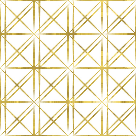 White and gold  pattern. Abstract geometric modern background. Easy editable vector illustration.Shiny backdrop. Texture of gold foil. Classic  wallpaper.