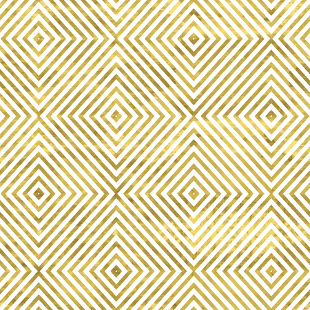 White and gold pattern. Abstract geometric modern background. Vector illustration.Shiny backdrop. Texture of gold foil.
