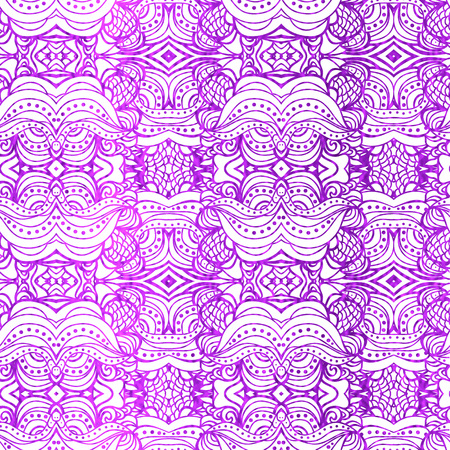 purple wallpaper: Purple and white seamless  wallpaper. Abstract classic background with violet freehand pattern. Vector illustration.Shiny backdrop. Illustration