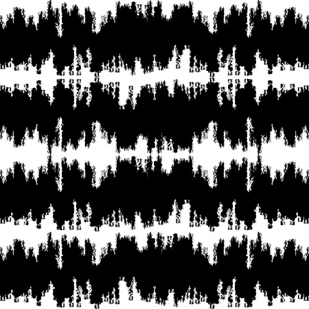 texture fantasy: Fantasy chevron seamless pattern made with ink. Modern design.Black and white hipster  background with grungy zigzag stripes. Vector illustration. Freehand texture. Artistic  wallpaper.