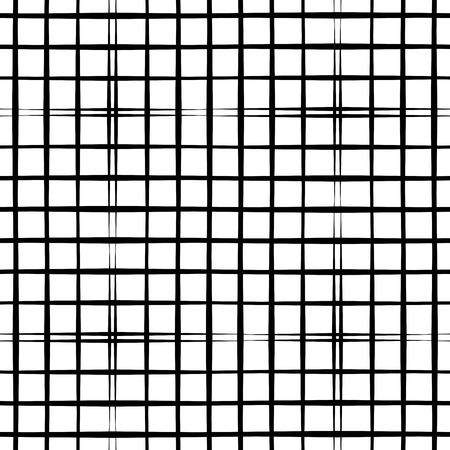 Abstract seamless pattern géométrique avec grille. noir et blanc simple background.Vector illustration. Monochrome design classique. Vecteurs