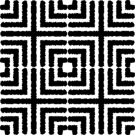 texture fantasy: Fantasy abstract seamless patterns made with ink. Monochrome freehand texture. Black and white modern freehand background with destroyed lines. Vector illustration.