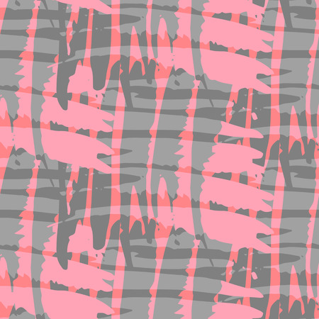 patterns vector: Fantasy abstract seamless patterns made with ink. Bright freehand texture. Pink and grey modern freehand background with destroyed lines. Vector illustration. Illustration