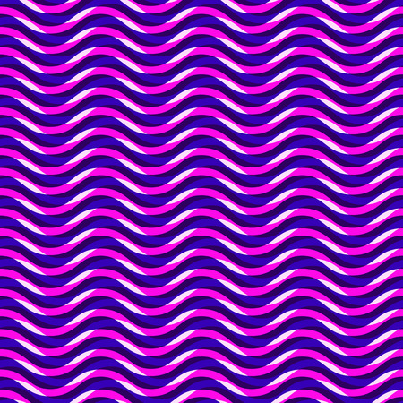 80's: Abstract  80s, 90 seamless bright  pattern with wave  lines. Fantasy geometric background with colorful shapes.  Hipster pink and blue background. Vector illustration for wrapping, website, or other design.