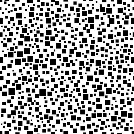 Abstract geometric seamless pattern with squares. Simple black and white background.Vector illustration. Monochrome classic design.