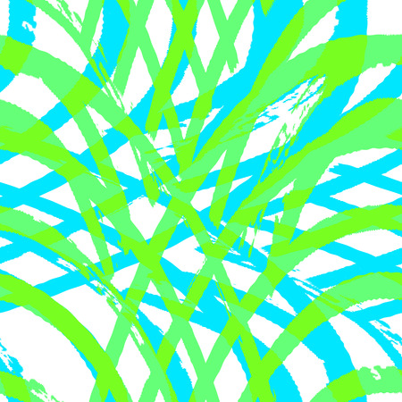 destroyed: Fantasy abstract  seamless pattern made with ink. Bright grid texture. Blue and green modern background with destroyed lines. illustration.
