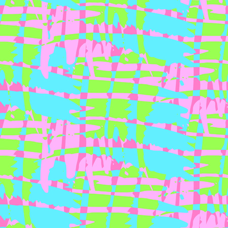 destroyed: Bright destroyed artistic seamless pattern. Multicolored background.