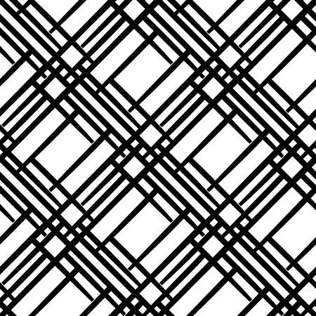 斜めの線でシームレスな幾何学的なパターン。シンプルな黒と白の背景。