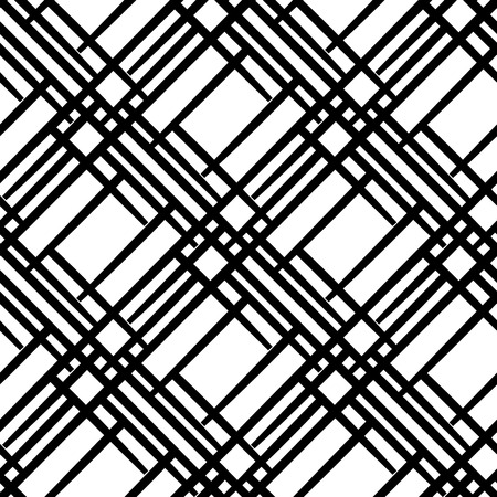 Seamless geometric pattern with diagonal  lines. Simple black and white background.