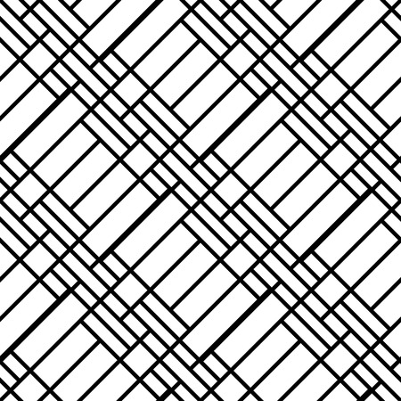 white abstract: Abstract geometric seamless pattern with diagonal  lines. Simple black and white background. Illustration