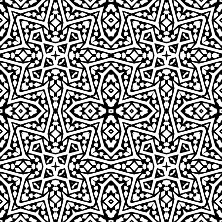 orient: Abstract arabic seamless pattern. Monochrome  orient moroccan background. Illustration