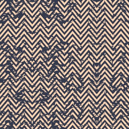 Blue and beige classic chevron  pattern. Abstract geometric modern background. Vector illustration. Grunge backdrop. Nautical  wallpaper.