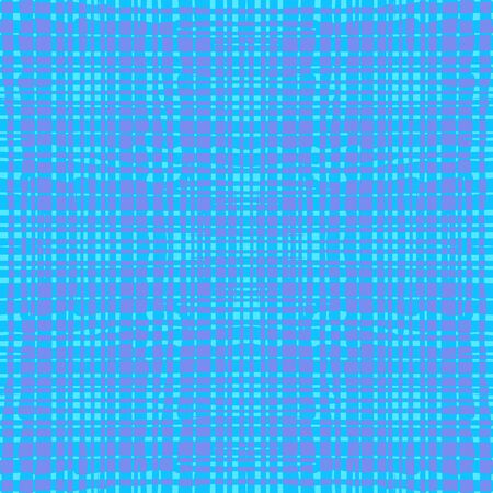 Blue and purple  seamless pattern with grungy grid. Abstract colorful background. Modern  vector illustration with transparent lines. Gentle color.