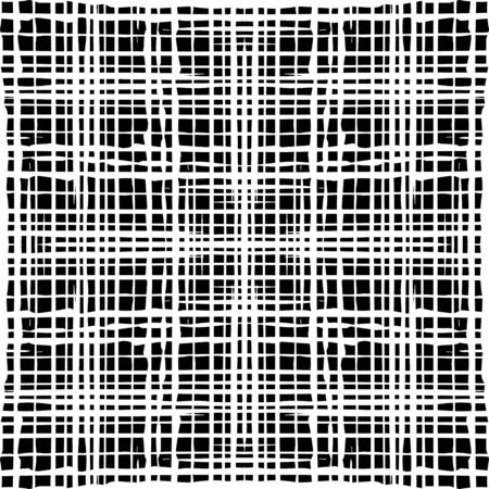 Vector black and white  background with grungy grid. Artistic monochrome  illustration. Abstract seamless pattern. Modern design.