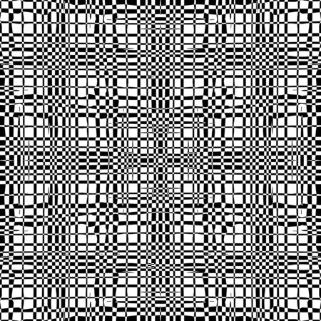 Black and white  background with grungy grid. Artistic monochrome abstract seamless pattern. Modern design. Vector illustration.