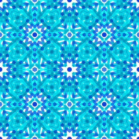 Festive  mosaic seamless pattern with  pieces of broken abstract glass shards.  Creative vector illustration. Gentle blue freezing drizzle colors.  Light modern background. Shiny backdrop.
