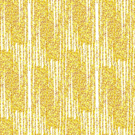 Gold seamless festive  pattern. Fantasy monochrome bright  abstract  background with golden glitter sparkle lines . Vector illustration. Shiny backdrop. Texture of glitter gold foil.