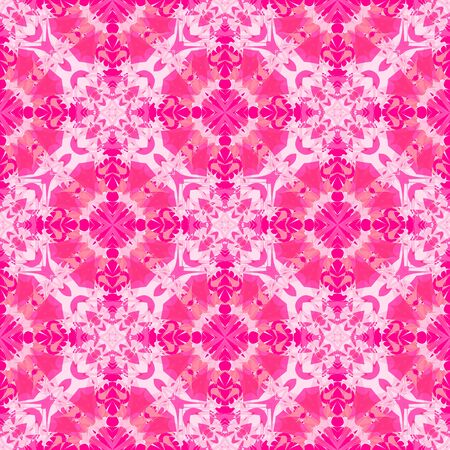 Fantasy  seamless pattern with  print of ethnic colorful abstract flower. Vivid pink artistic vector illustration. 矢量图像