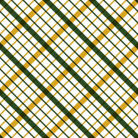 Geometric green and yellow seamless pattern with rhombs. Abstract vector diamond net. Colorful artistic illustration for fabric design, wallpaper, decorative paper, web design, templates, postcard. Illustration